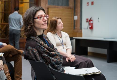 School of Public Policy at CEU Professor Marie-Pierre Granger. Photo: SPP/Stefan Roch