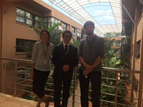Balint Nemeth (MPA '16) smiles with two of his colleagues at UN-Habitat.