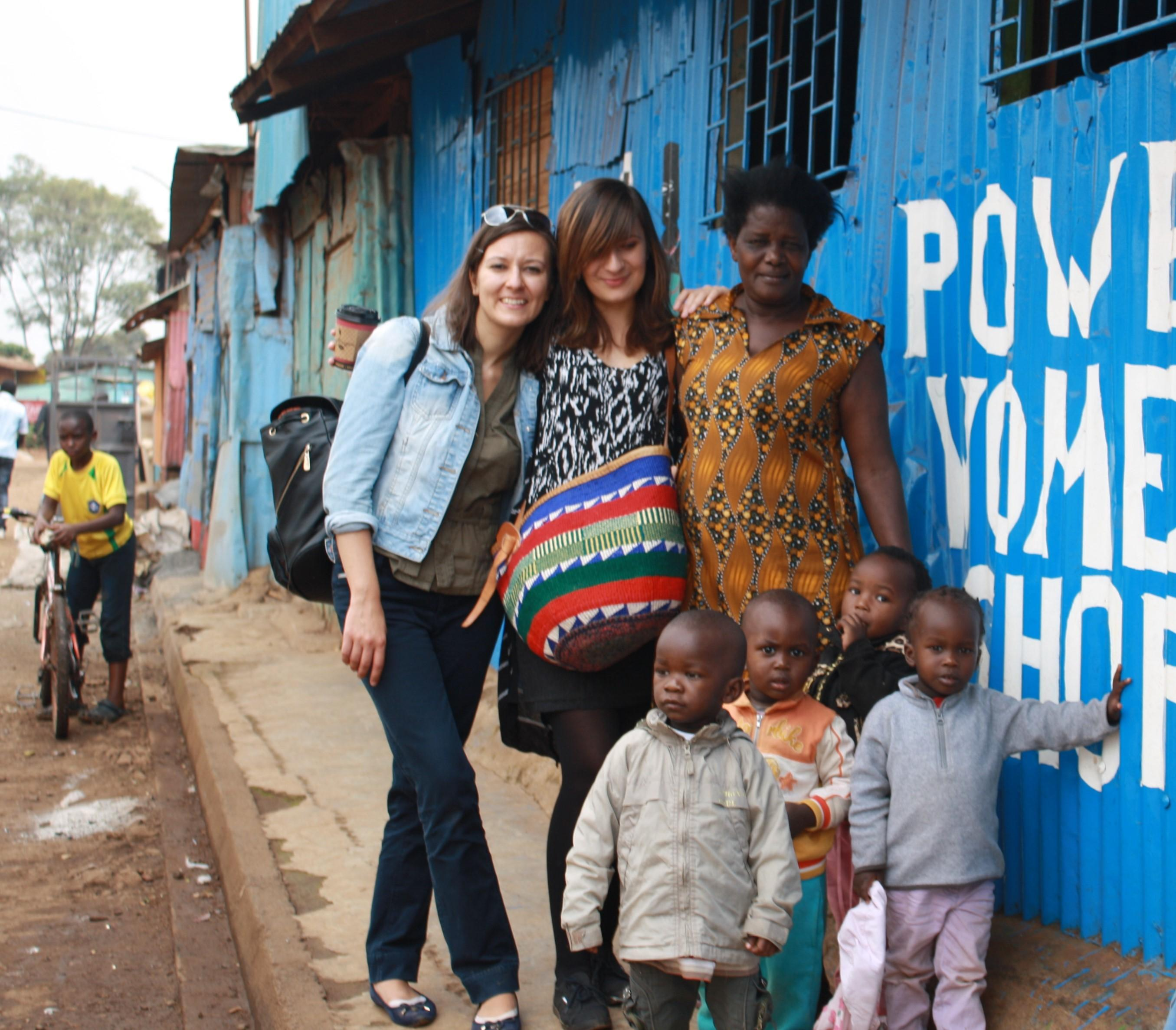 Corina Ajder (MPA '16) visits the Kibera slum in Nairobi.