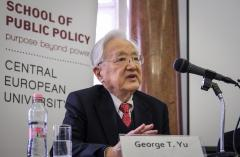 Professor George T. Yu speaks at the School of Public Policy at CEU. Photo: SPP/Stefan Roch